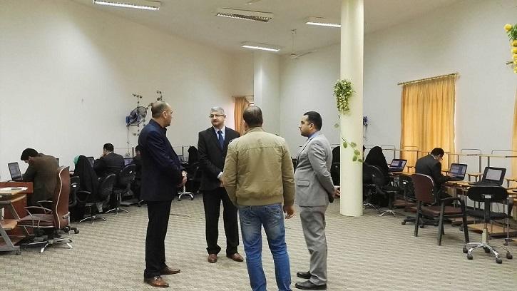 تم أجراء أختبار أمتحان كفاءة اللغة الأنكليزية وكفاءة الحاسوب ليوم 13/2/2017